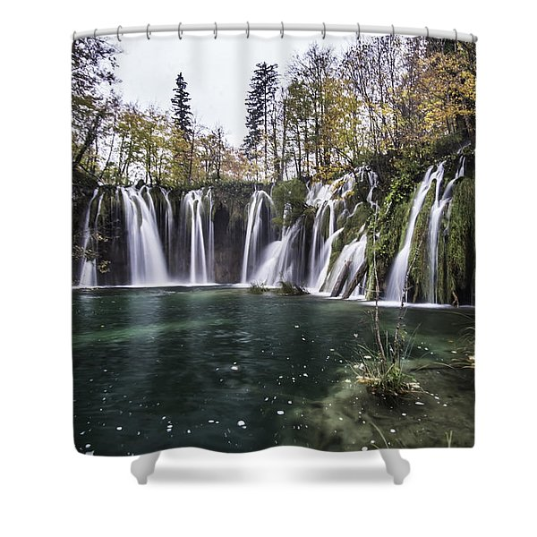 Waterfalls In Croatia Shower Curtain