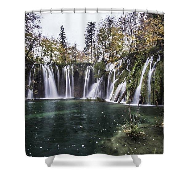 Waterfalls In Croatia Shower Curtain