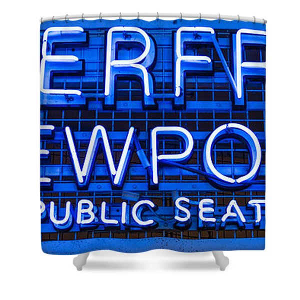 Waterfront Neon Pike Place Market Seattle Shower Curtain