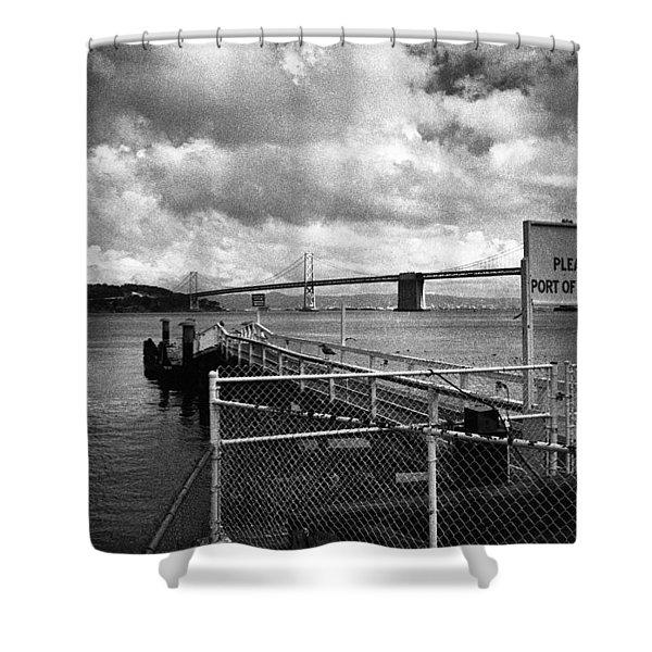 Waterfront San Francisco Shower Curtain