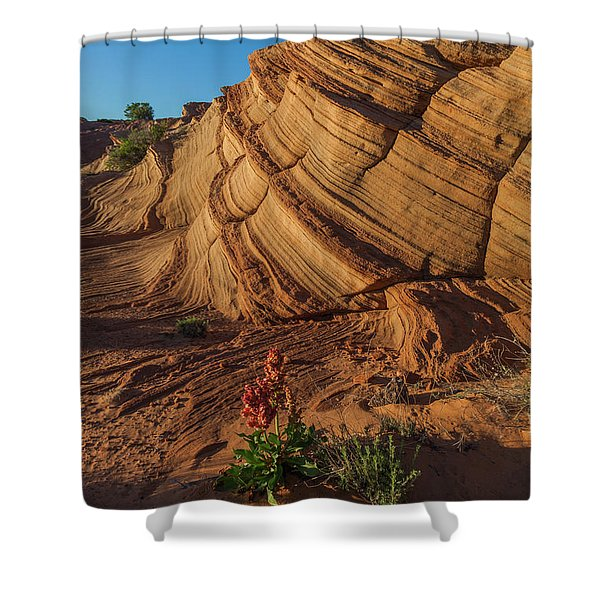 Waterhole Canyon Evening Solitude Shower Curtain