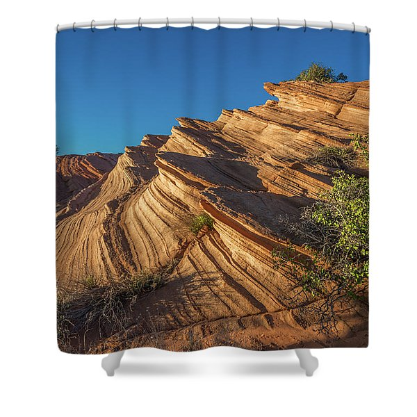 Waterhole Canyon Rock Formation Shower Curtain