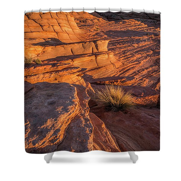 Waterhole Canyon Sunset Vista Shower Curtain