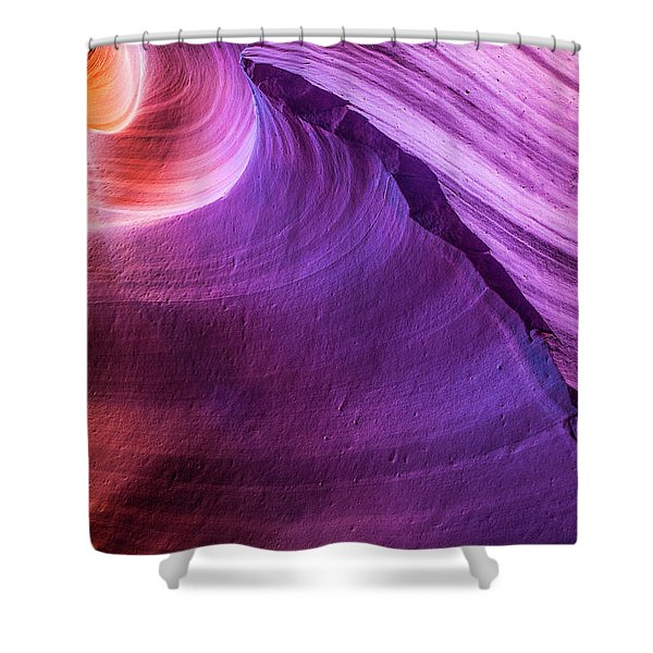 Waterhole Canyon Wave Shower Curtain