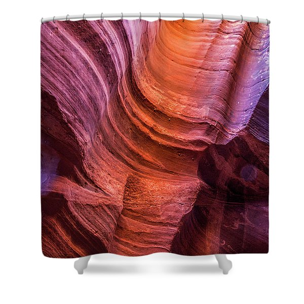 Waterholes Canyon Ribbon Candy Shower Curtain