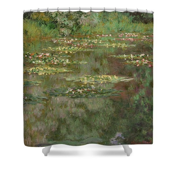 Waterlilies Or The Water Lily Pond Shower Curtain