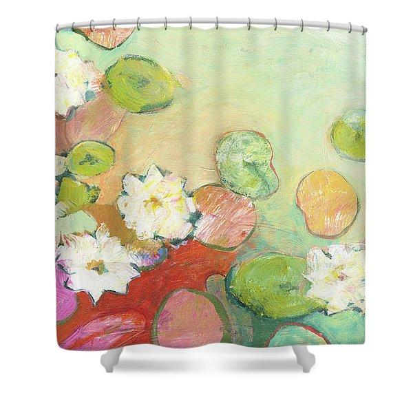 Waterlillies At Dusk No 2 Shower Curtain