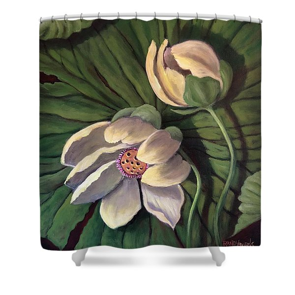 Waterlily Like A Clock Shower Curtain