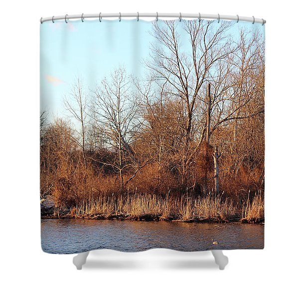 Northeast River Banks Shower Curtain