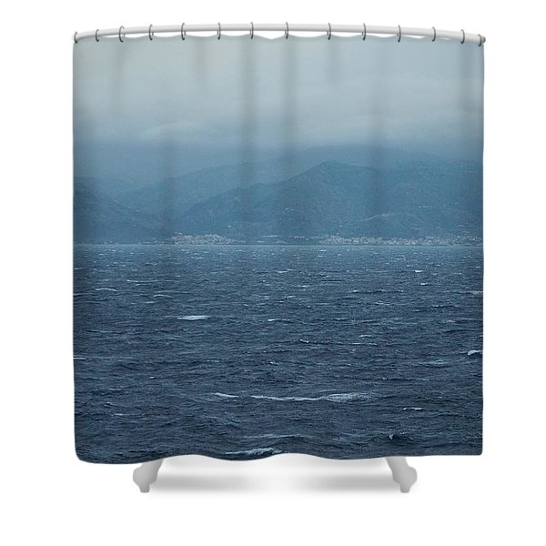 Waters Of Capri Shower Curtain