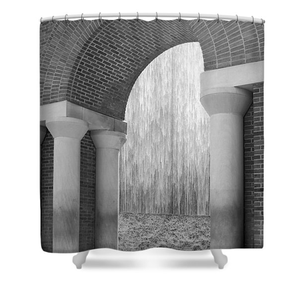 Waterwall And Arch 3 In Black And White Shower Curtain