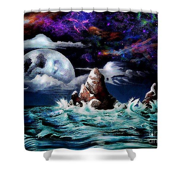Waterworld  Shower Curtain