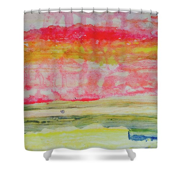 Watery Seascape Shower Curtain