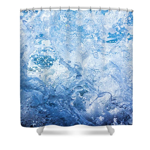 Wave With Hole Shower Curtain