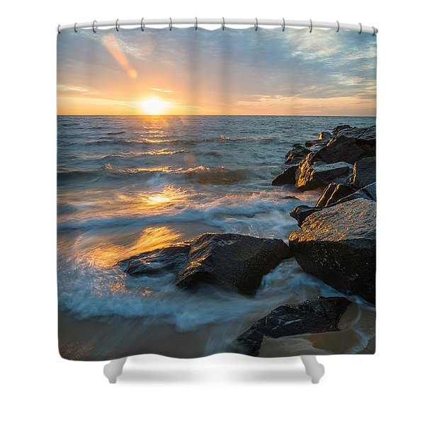 Wave Break Shower Curtain