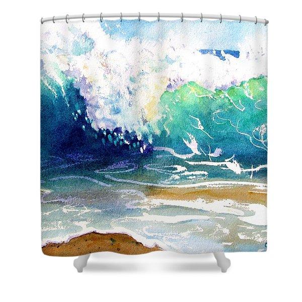 Wave Color Shower Curtain