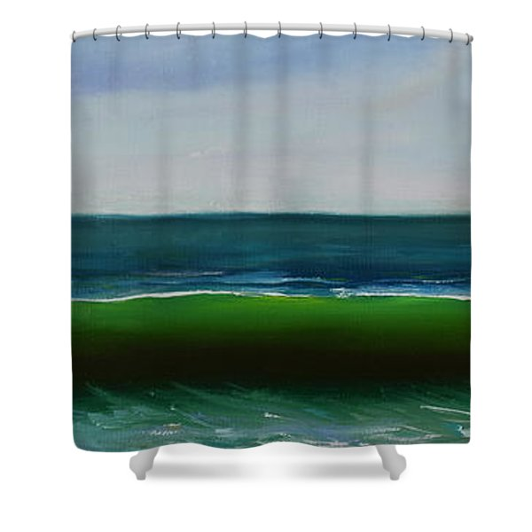 Shower Curtain featuring the painting Wave by Mary Scott