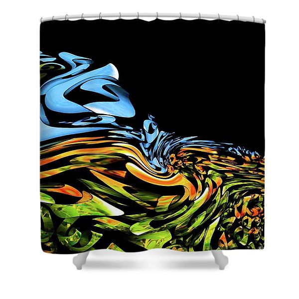 Wave Of Colors Shower Curtain
