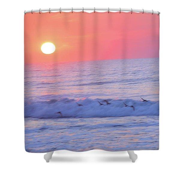 Wave Of Gratitude Nature Art Shower Curtain