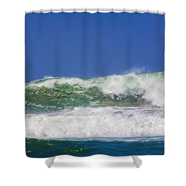 Wave Rolling To The Beach Shower Curtain