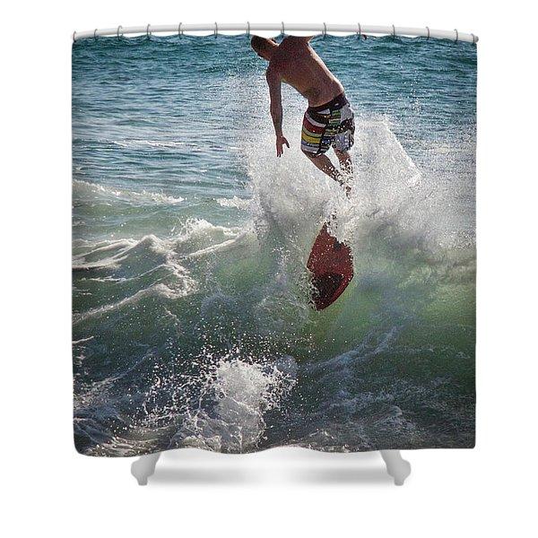 Wave Skimmer Shower Curtain