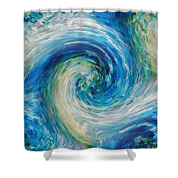 Wave To Van Gogh II Shower Curtain