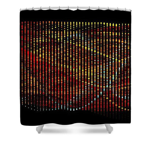 Abstract Visuals - Wavelengths Shower Curtain