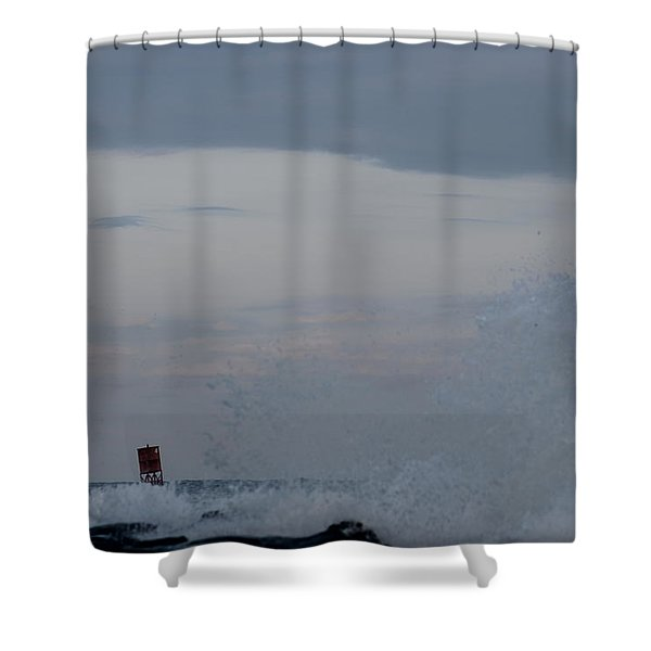 Waves High Shower Curtain