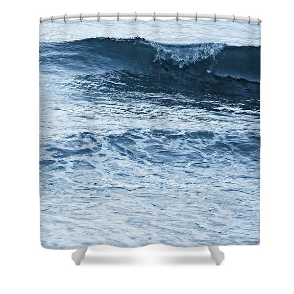 waves III Shower Curtain