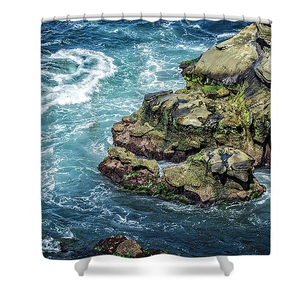 Waves Of Blue Shower Curtain