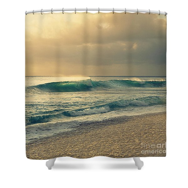 Waves Of Light - Hipster Photo Square Shower Curtain
