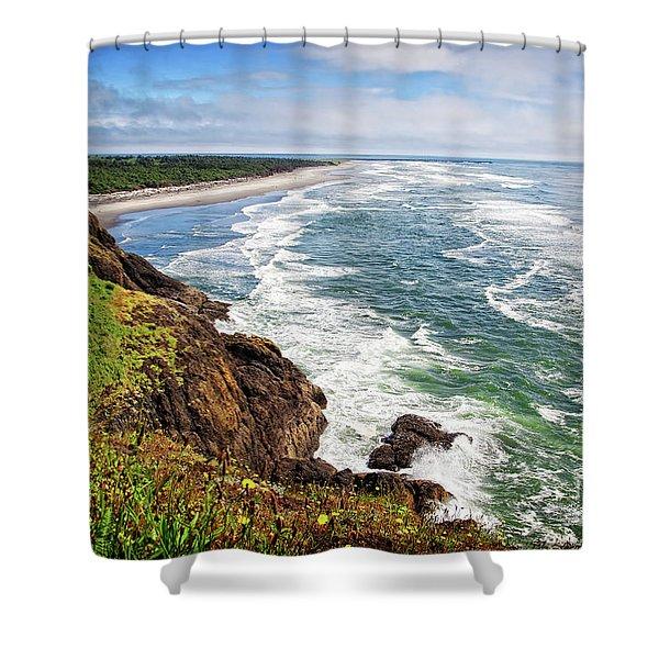 Waves On The Washington Coast Shower Curtain