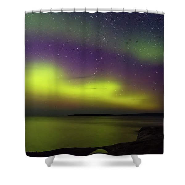 Shower Curtain featuring the photograph Waves Over Paradise by Heather Kenward