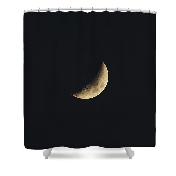 Waxing Crescent Spring 2017 Shower Curtain