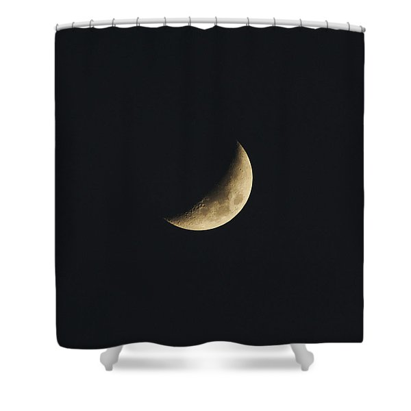 Shower Curtain featuring the photograph Waxing Crescent Spring 2017 by Jason Coward