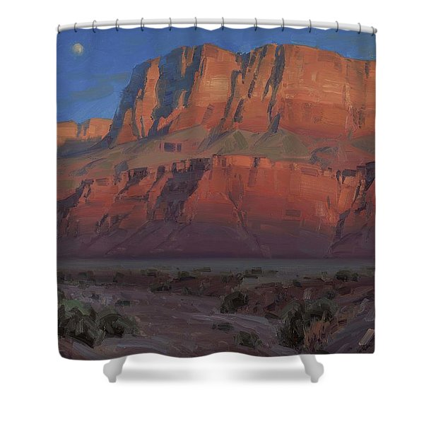Waxing Moon Shower Curtain
