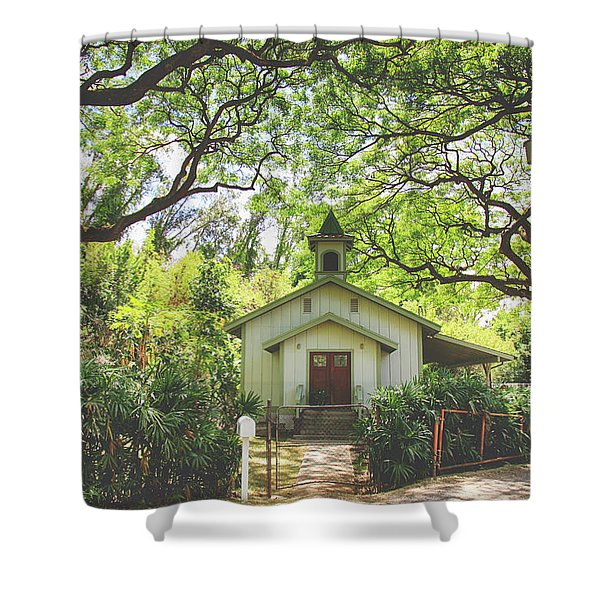 We Gather Beneath The Trees Shower Curtain