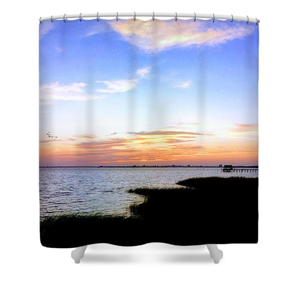 We Have Arrived Shower Curtain