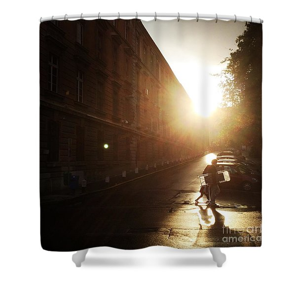 We Live In Budapest #11 Shower Curtain