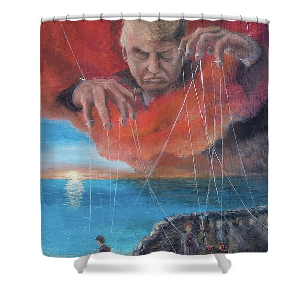 Shower Curtain featuring the painting We Traded Our Hearts For Stones by Break The Silhouette