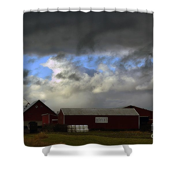 Weather Threatening The Farm Shower Curtain