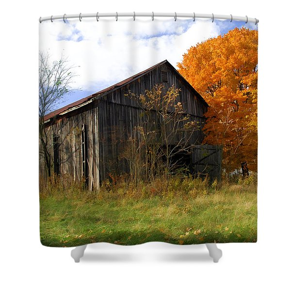 Weathered Barn 3 Shower Curtain