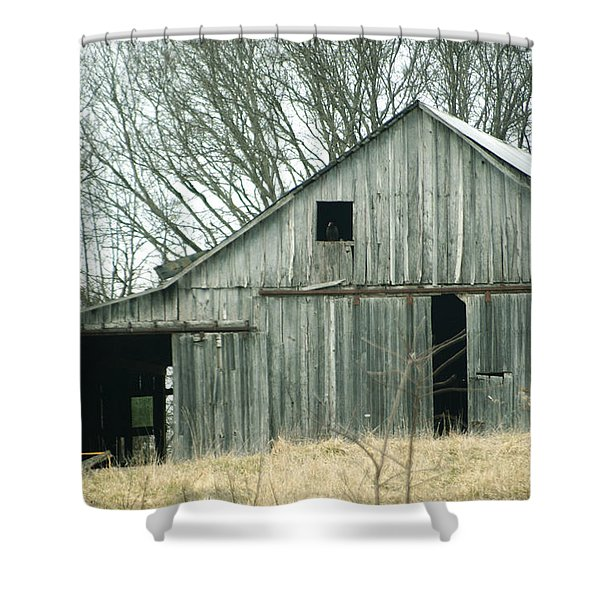 Weathered Barn In Winter Shower Curtain