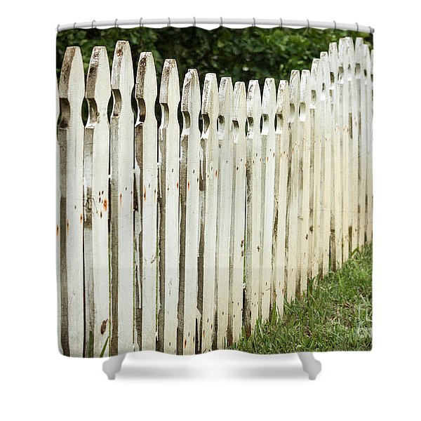 Weathered Fence Shower Curtain