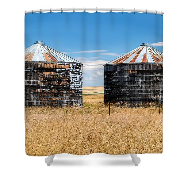 Weathered Old Bins Shower Curtain