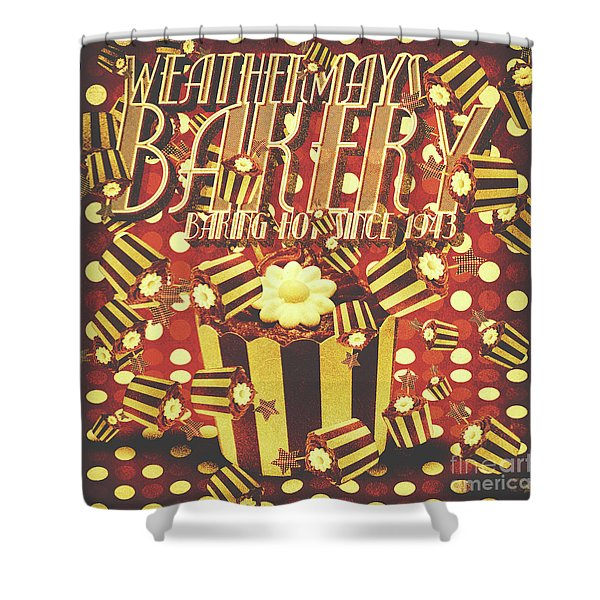 Weathermays Bakery 1943 Shower Curtain