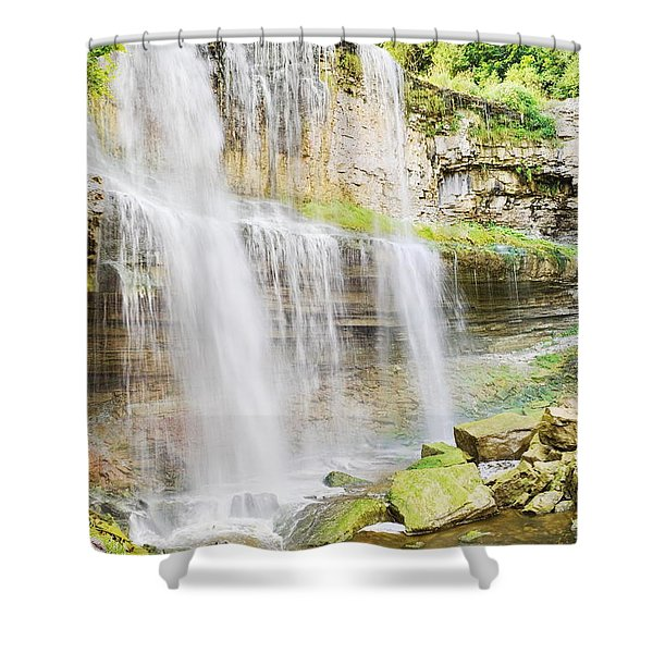 Webster Falls Shower Curtain