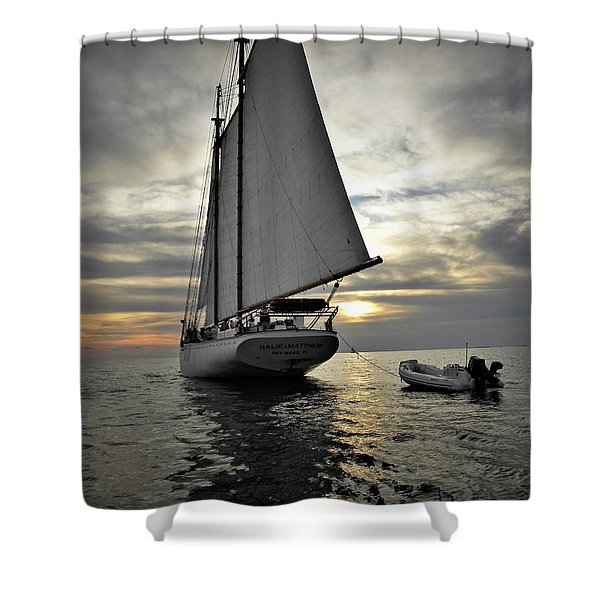 Wedding At Sea Shower Curtain