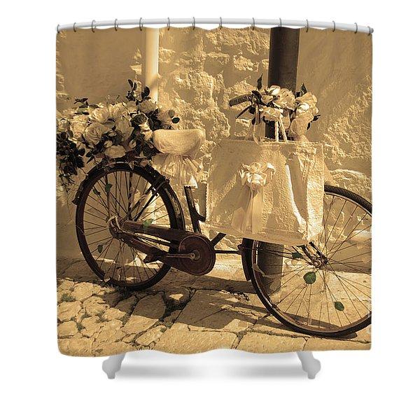 Wedding Bike Shower Curtain