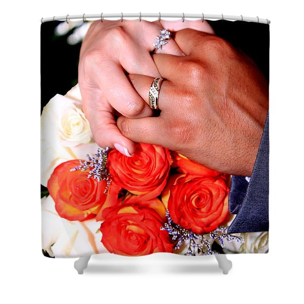Wedding Rings Shower Curtain
